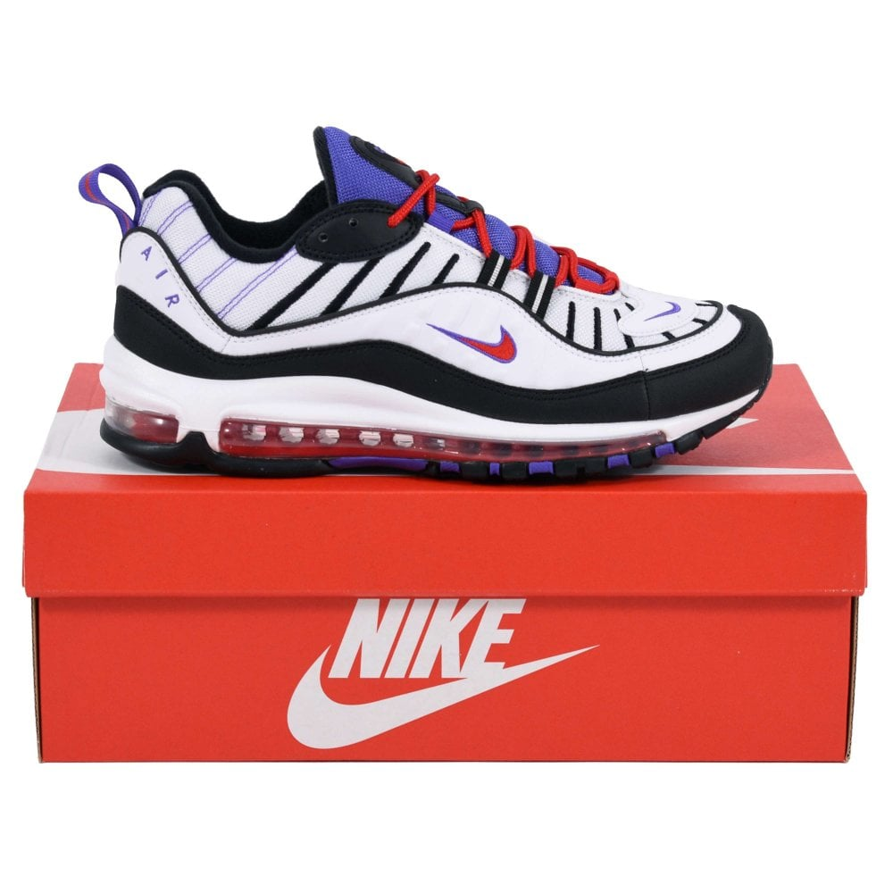 official photos a0db0 826cb Nike Air Max 98 White Psychic Purple University Red Black