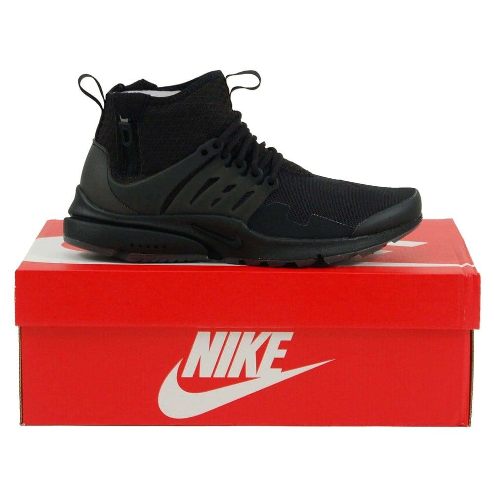 brand new 53a8b fdb37 Nike Air Presto Mid Utility Black Dark Grey - Mens Clothing from ...