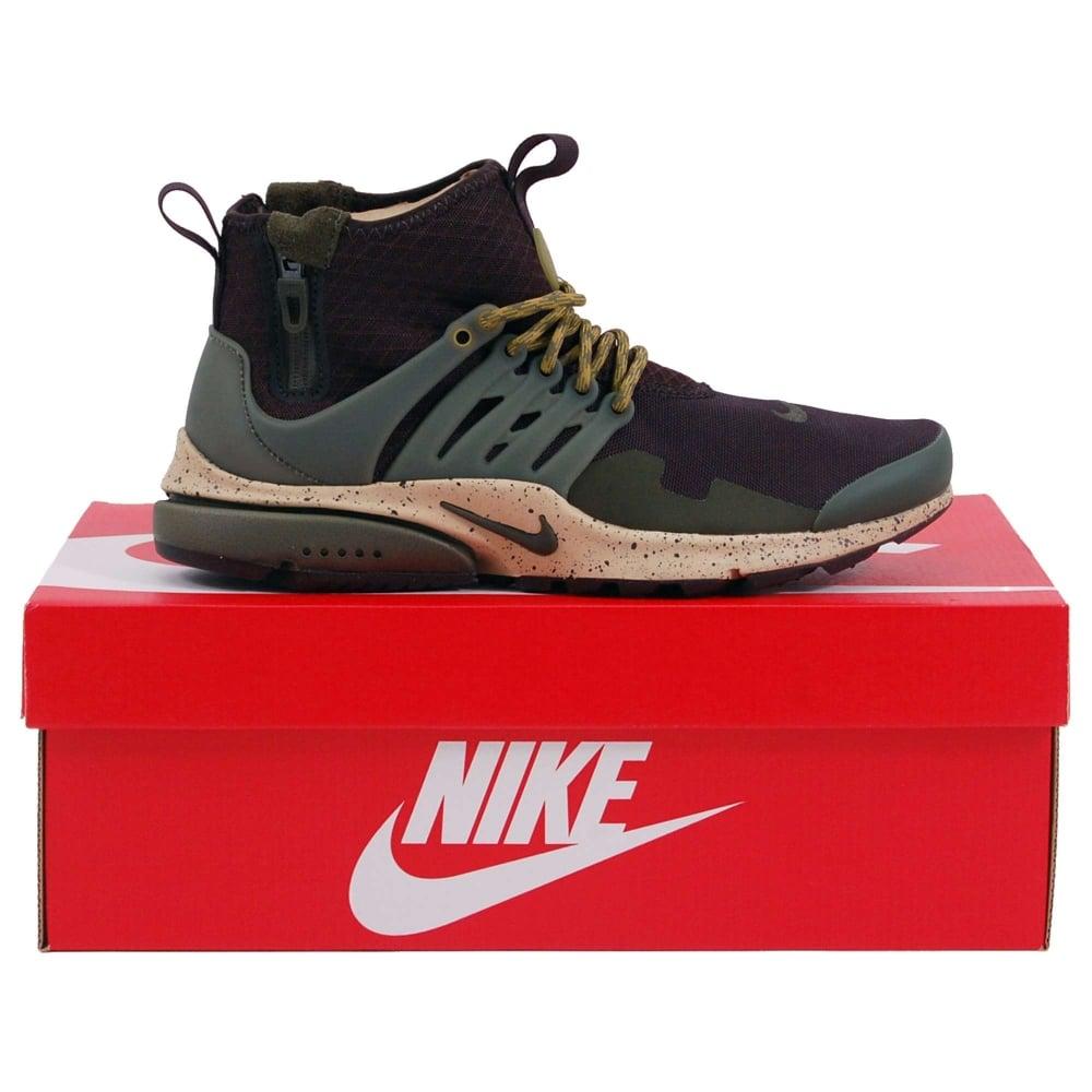 17dc57c6d67b Nike Air Presto Mid Utility Velvet Brown Cargo Khaki Mushroom - Mens ...