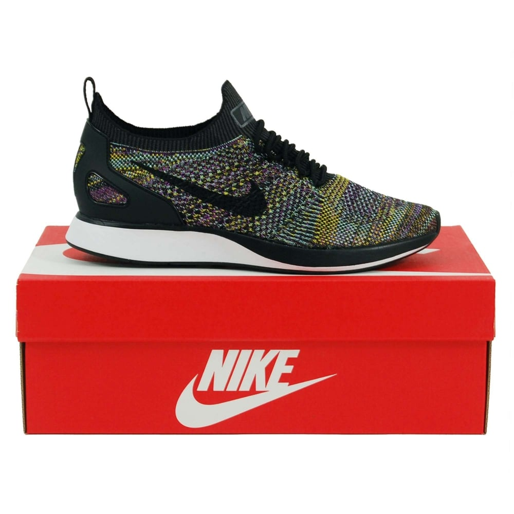 11e16cc6db2d9 Nike Air Zoom Mariah Flyknit Racer Black Vivid Purple Bright Citron ...