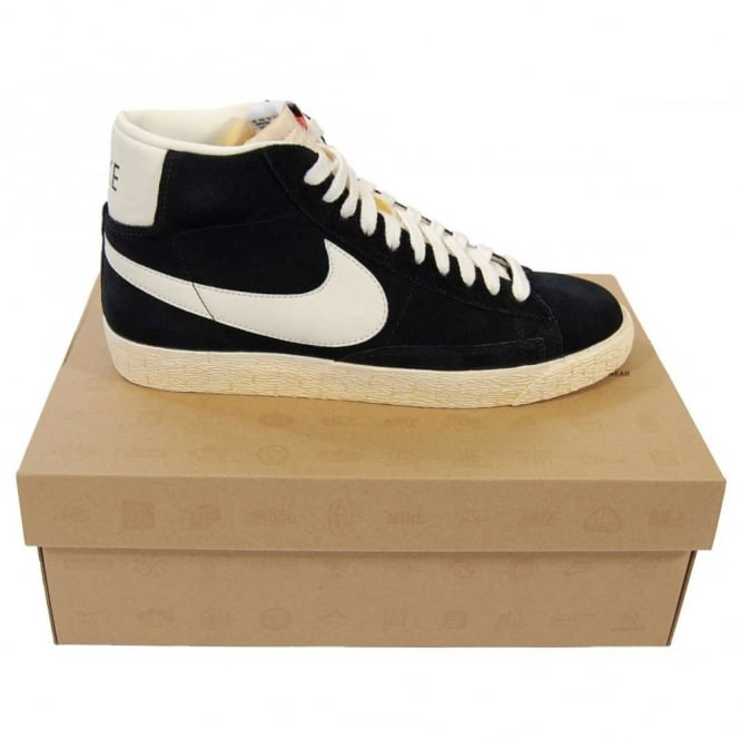 nike blazer high vintage black