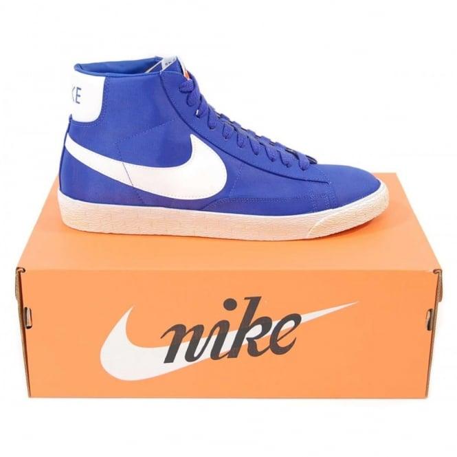 reputable site 26eb3 adaff Nike Blazer High Vintage Nylon Bright Blue