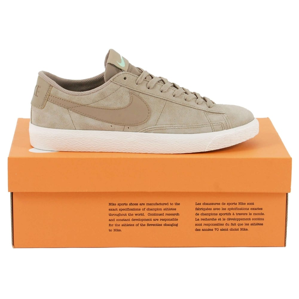 Nike Blazer Low Khaki Fresh Mint Sail - Mens Clothing From Attic Clothing UK