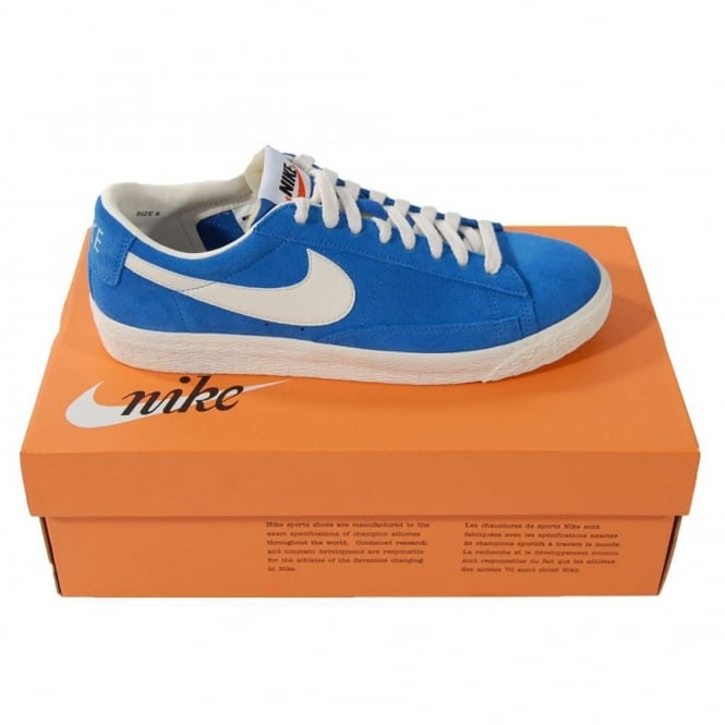 blue suede nike blazers low black