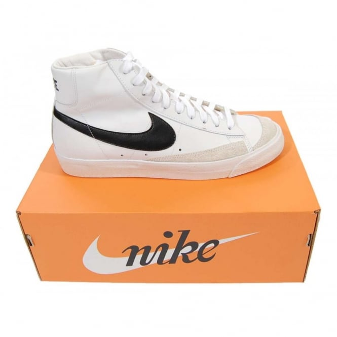 c1f71d6ce9ba1 Nike Blazer Mid 77 Premium Vintage White Black - Mens Clothing from ...
