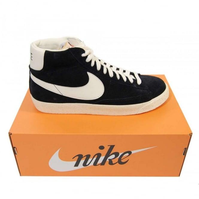 best sneakers 6c2a3 7111c Blazer Mid Premium Vintage Suede Black Sail