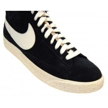 6305d987fc5f3 Nike Blazer Mid Premium Vintage Suede Black Sail - Mens Clothing ...
