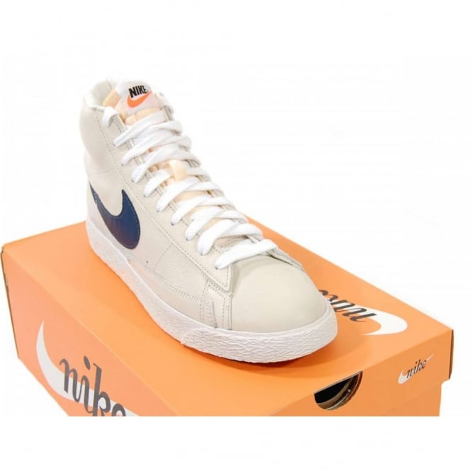 release date: 72eb7 d28a5 Nike Blazer Mid Vintage Leather Sail Navy