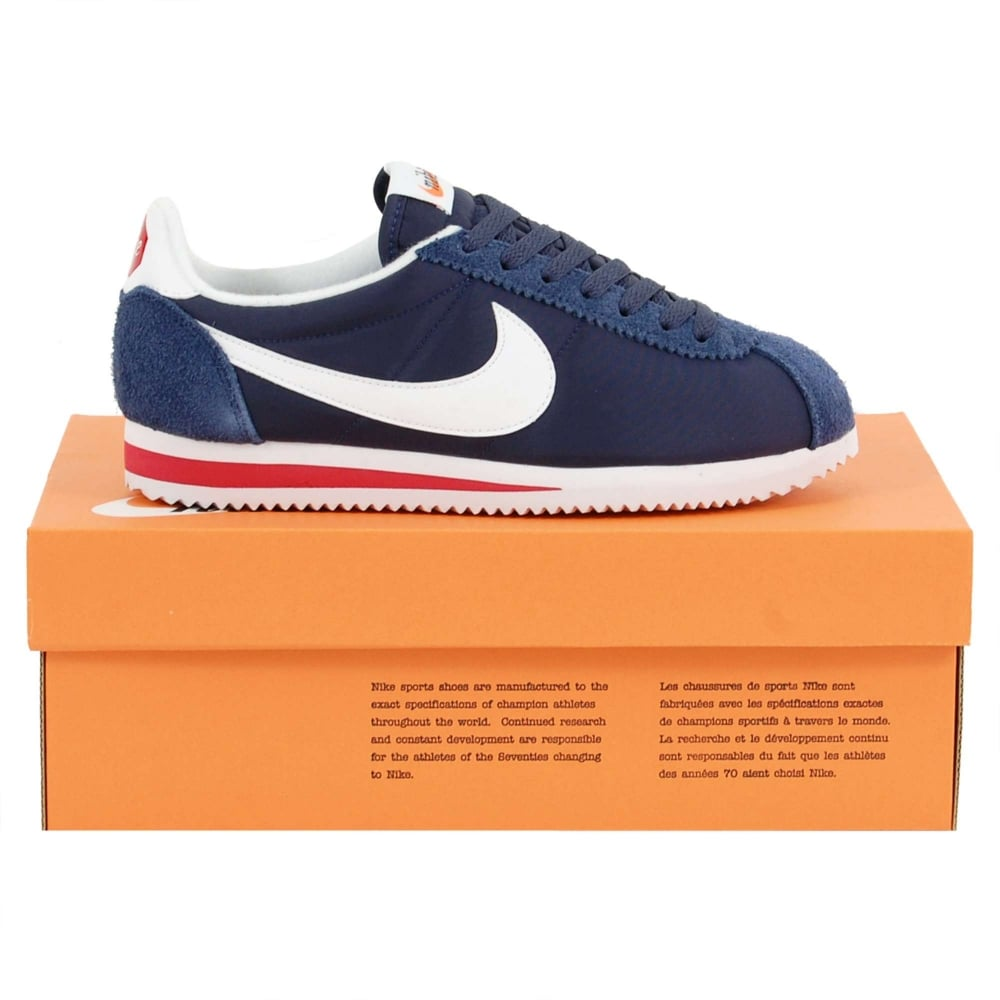 premium selection 8e2f1 ef8aa Classic Cortez Nylon Premium Midnight Navy White Varsity Red