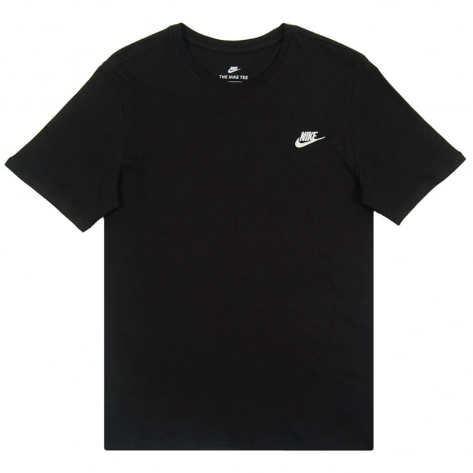 Nike Club Embro Futura T-Shirt Black White