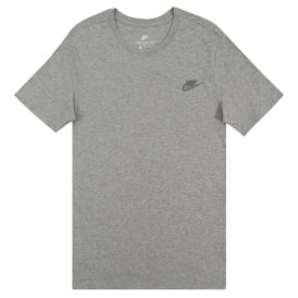Club Embro Futura T-Shirt Dk Grey Heather Cool Grey