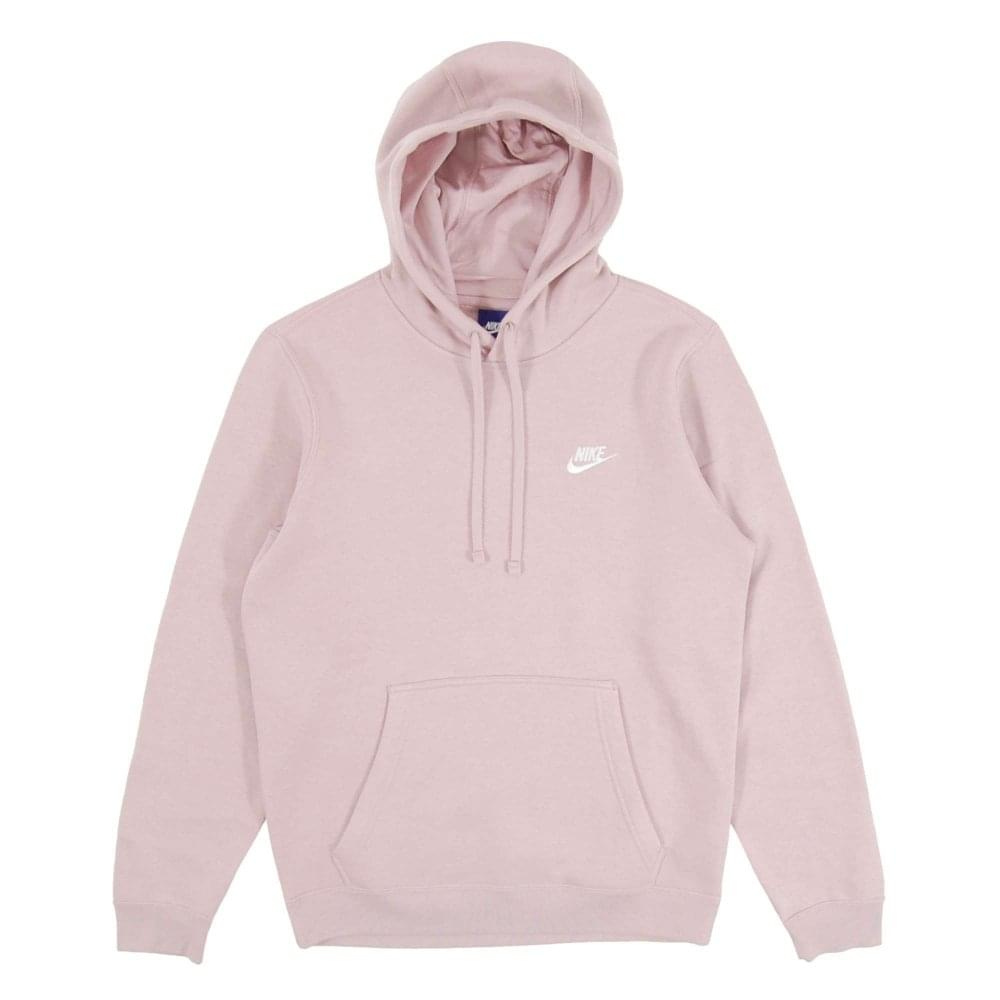 04bb8560d Nike Club Pullover Fleece Hoody Particle Rose White - Mens Clothing ...