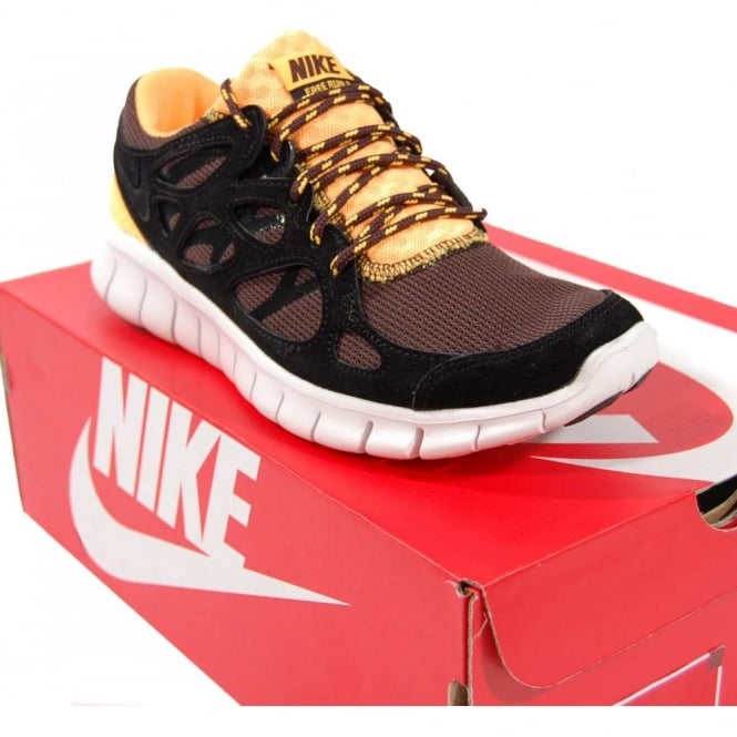 new product 0f472 e39c1 nike free run 2 black laser orange