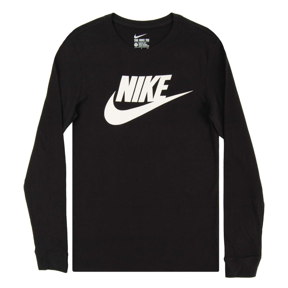 3c1ae844 Nike Futura Icon LS T-Shirt Black White - Mens Clothing from Attic ...