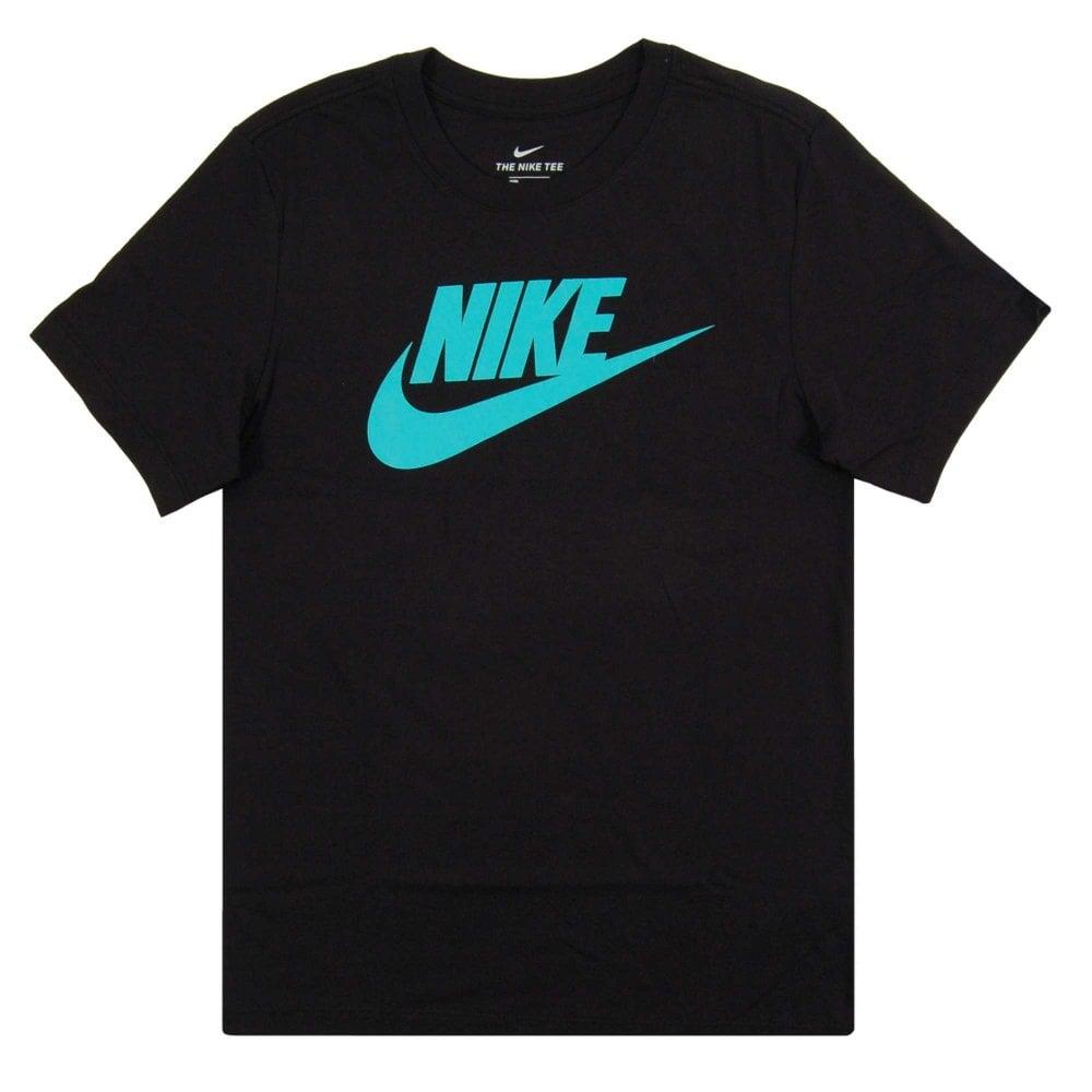 36ff2cadf Nike Futura Icon T-Shirt Black Hyper Jade - Mens Clothing from Attic ...