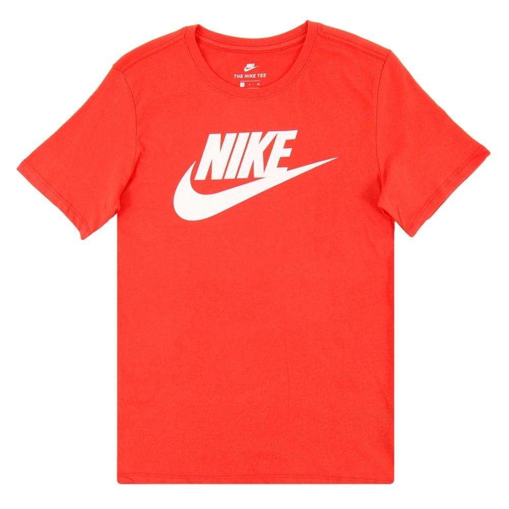 f45aab02eae0 Nike Futura Icon T-Shirt Max Orange White - Mens Clothing from Attic ...