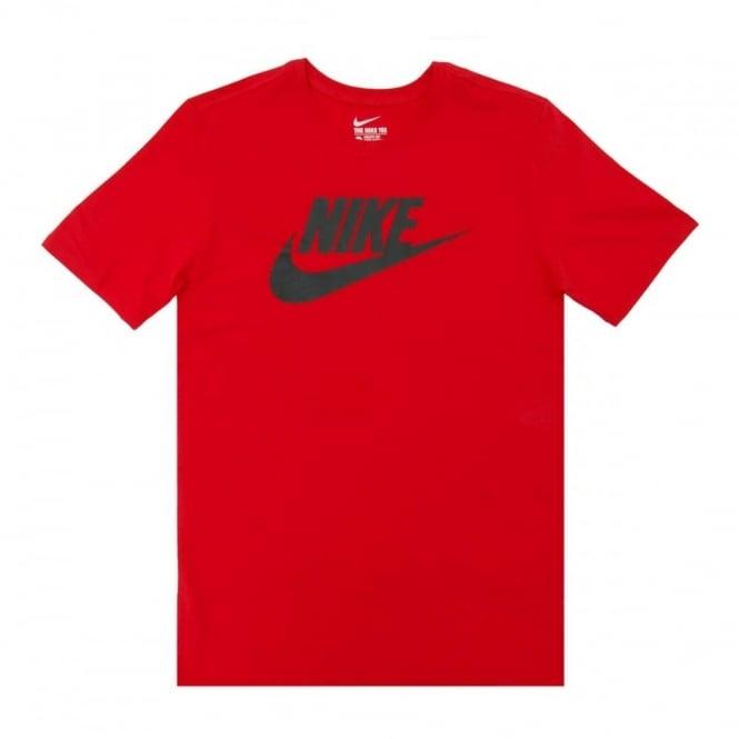 019a979e5364 Nike Futura Icon T-Shirt University Red Black - Mens Clothing from ...