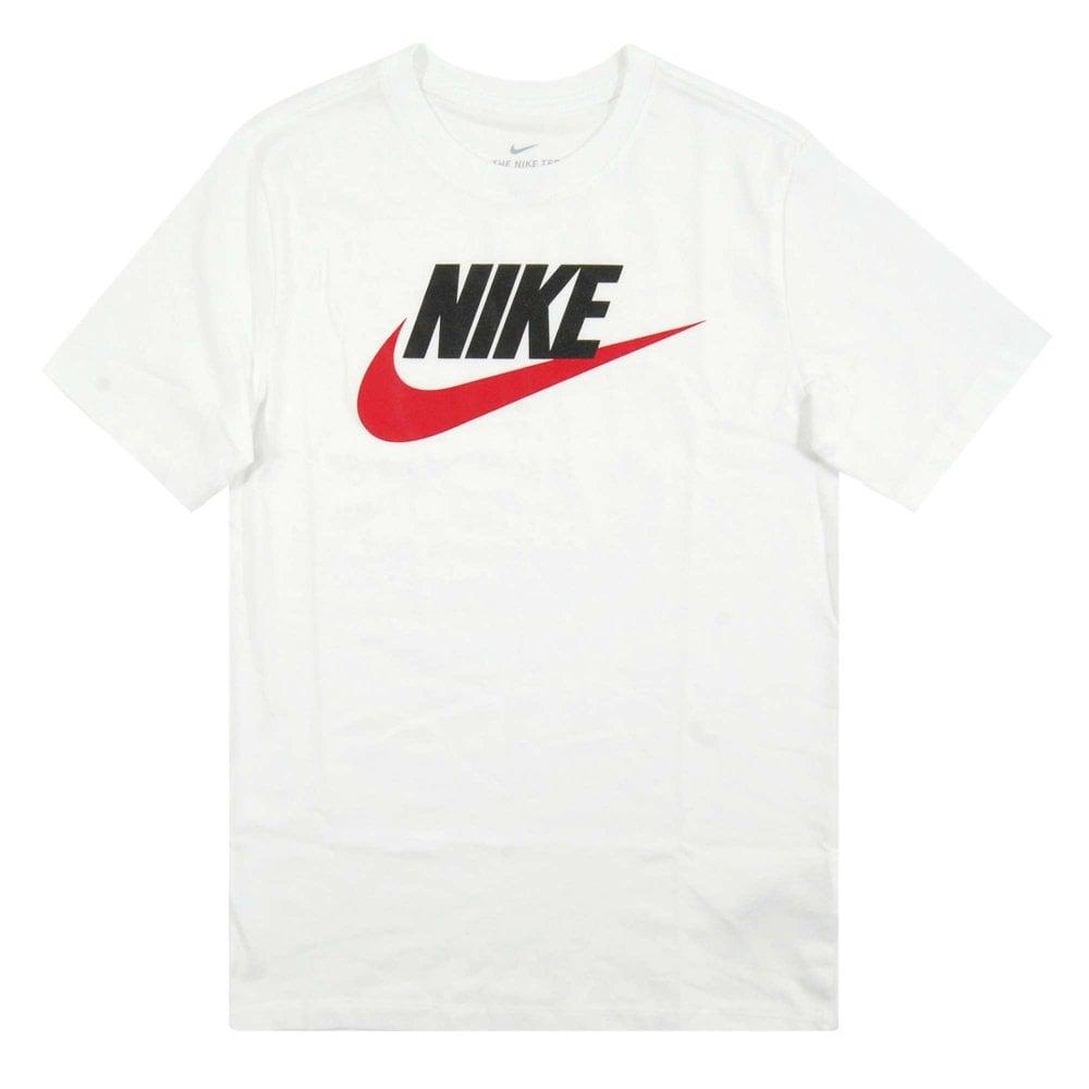 0ae1f45ae6fd Nike Futura Icon T-Shirt White Black University Red - Mens Clothing ...