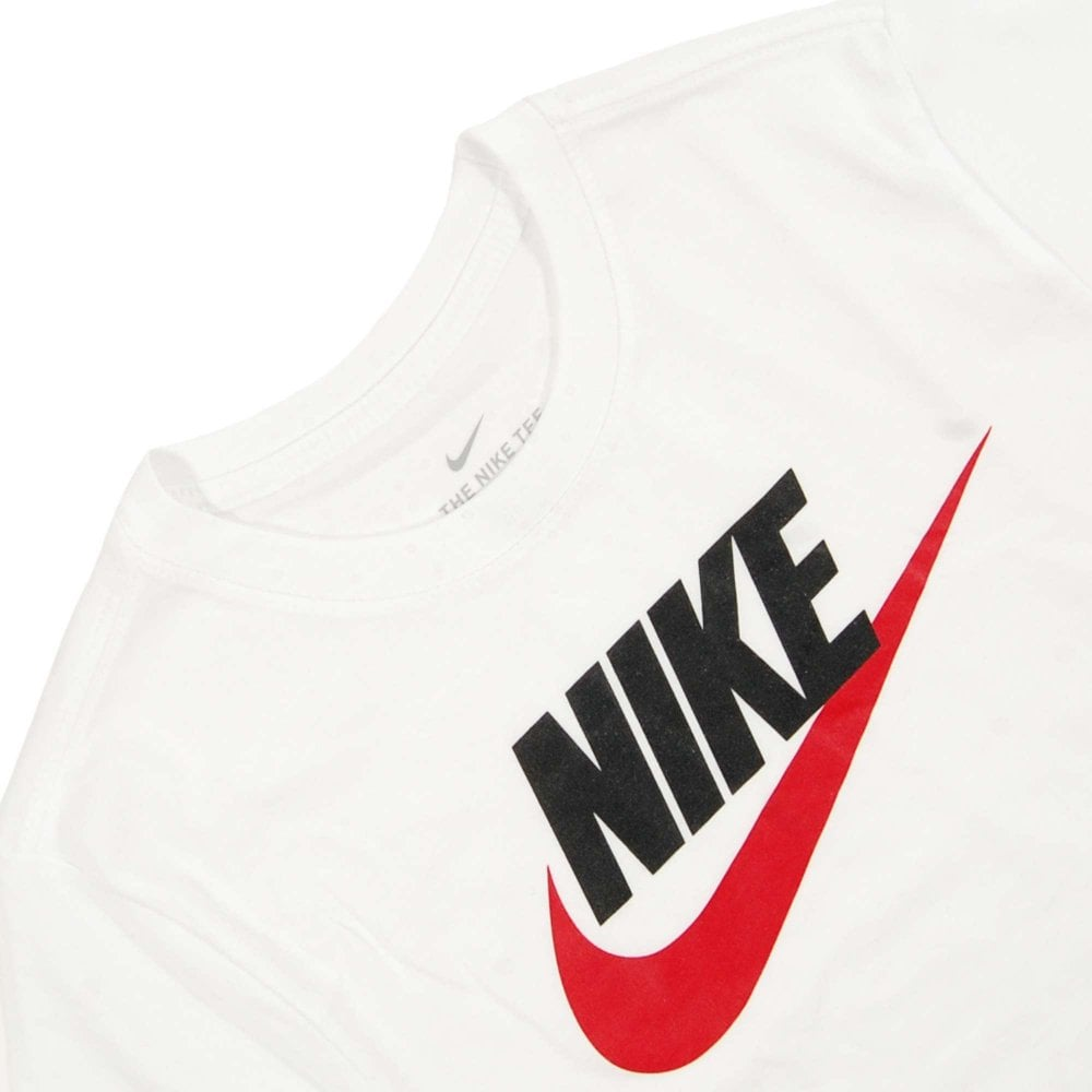 quite nice free shipping hot new products Nike Futura Icon T-Shirt White Black University Red - Mens ...