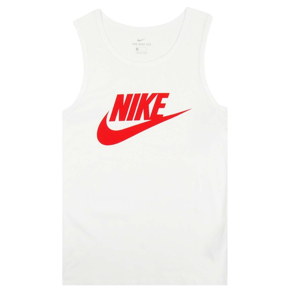 e68f86d8 Nike Futura Icon Tank Top White Habanero Red