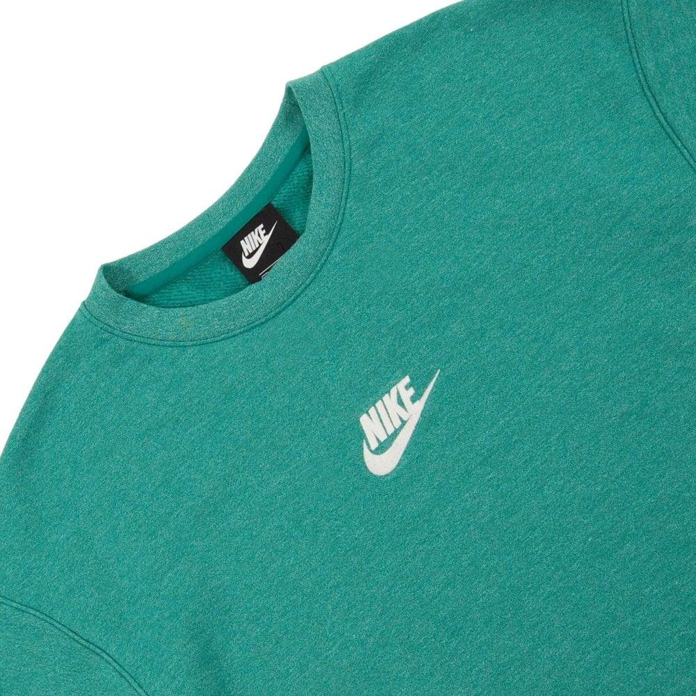 Nike Heritage Crew Sweat Mystic Green Heather Sail