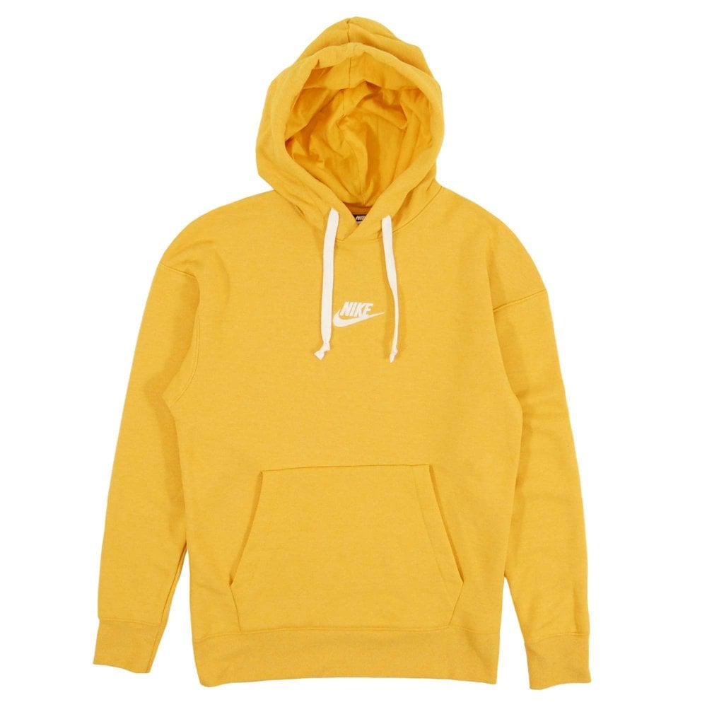 Nike Heritage Pullover Hoodie Yellow Ochre - Mens Clothing from ... 1d0334cd9234