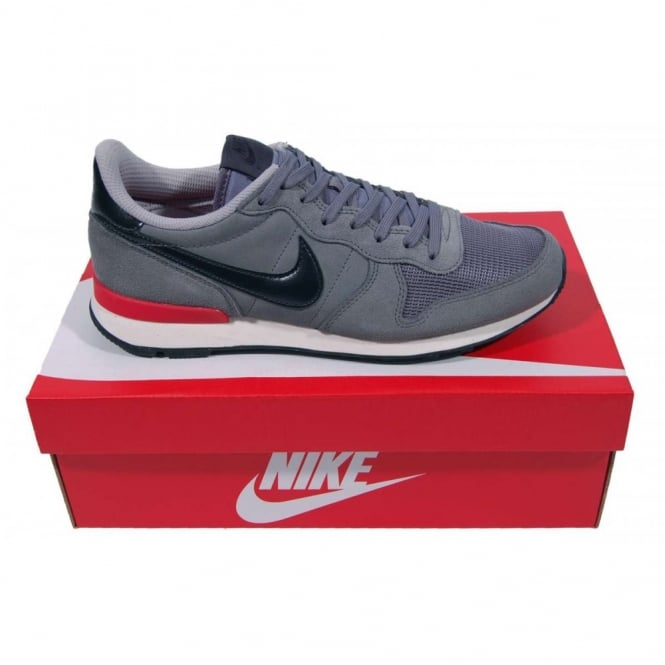 Nike Internationalist Leather Cool Grey Anthracite - Mens Clothing from Attic Clothing UK