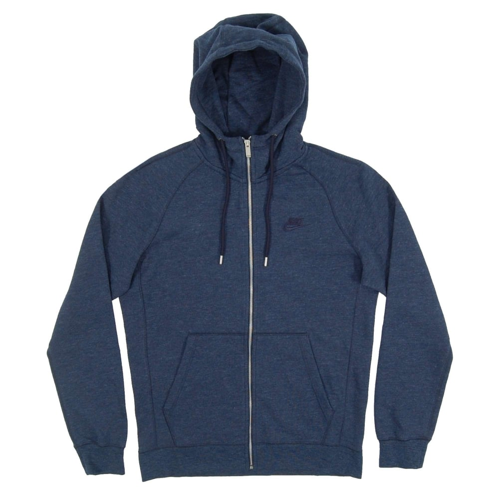 Nike Legacy Mens Zip Clothing Armory Hoodie From Navy Heather rr1wv