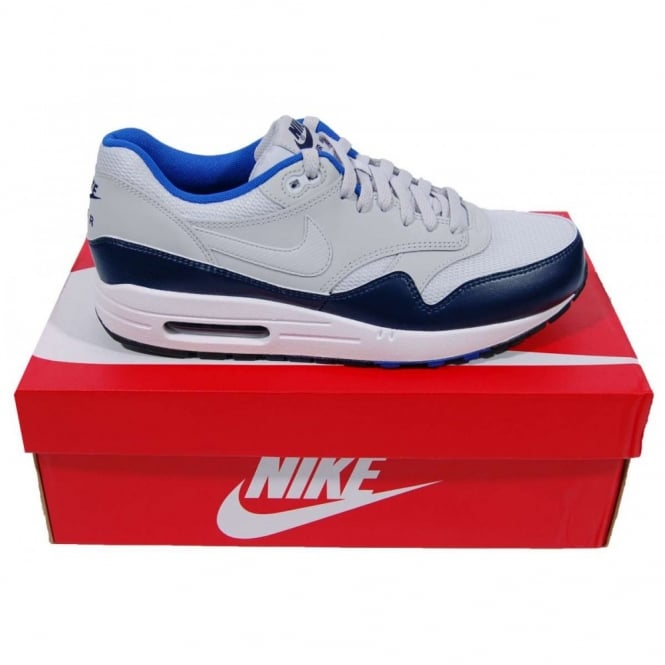 new products 5d19e 76b8e Nike Air Max 1 Essential Trainers Pure Platinum Midnight Navy
