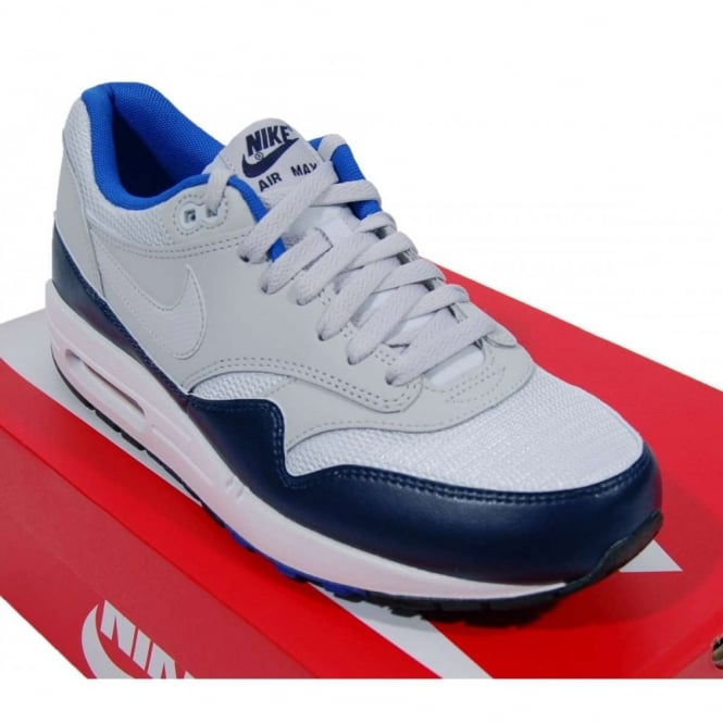 Nike Nike Air Max 1 Essential Trainers Pure Platinum Midnight Navy