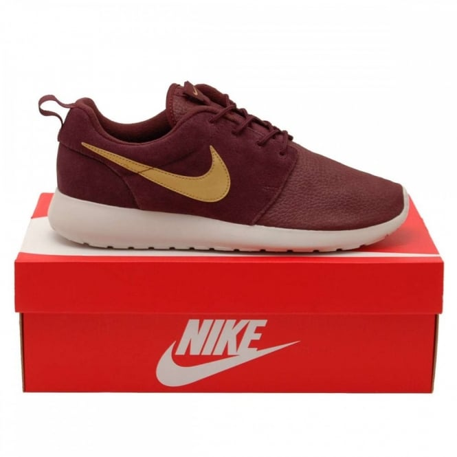 012ba5291907 Nike Roshe One Suede Mahogany Metallic Gold - Mens Clothing from ...
