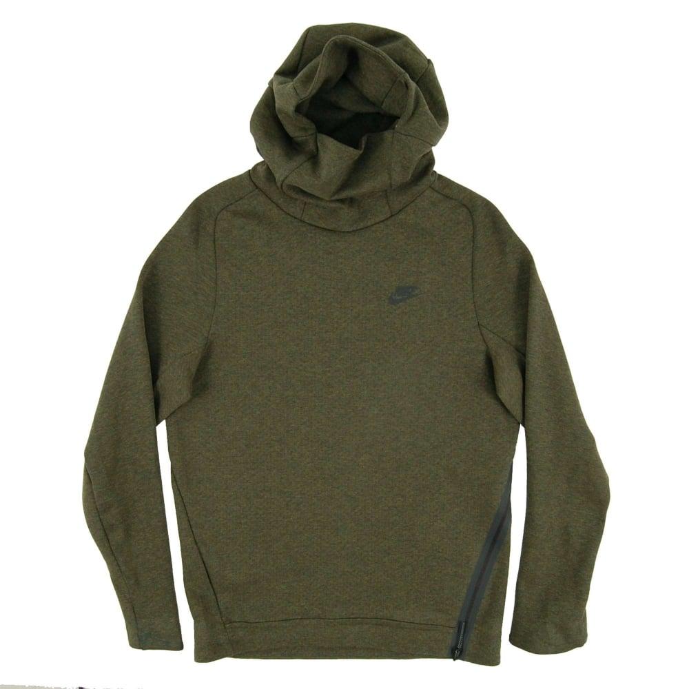 nike hoodie green mens
