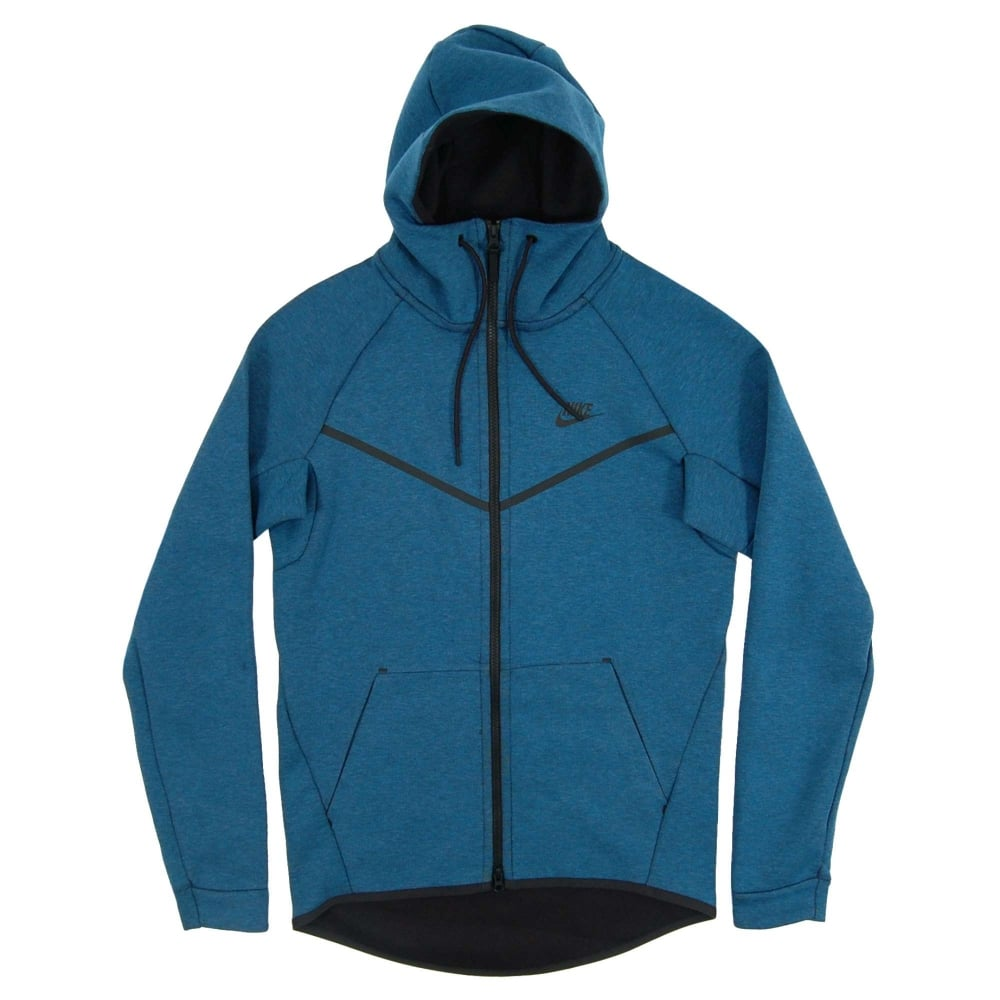 nike tech fleece windrunner 1mm industrial blue heather mens clothing from attic clothing uk. Black Bedroom Furniture Sets. Home Design Ideas