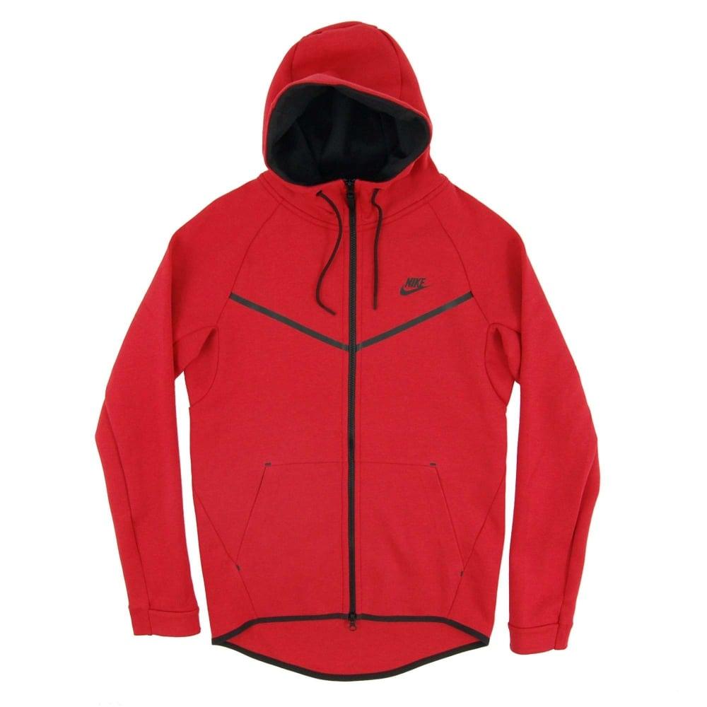 Red Nike Tech Fleece Jacket A6bdce