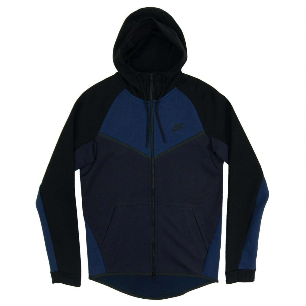 d36519e24378 Nike Tech Fleece Windrunner CB Obsidian Heather Obsidian Black ...