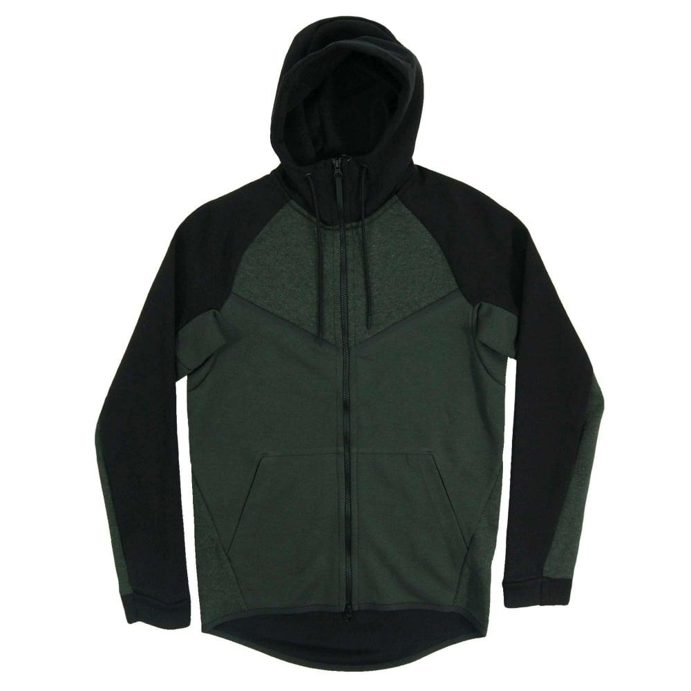 39bab20bd9aa Nike Tech Fleece Windrunner CB Outdoor Green Heather Black - Mens ...