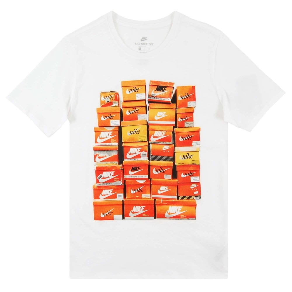 Nike Vintage Shoe Box T Shirt White Mens Clothing From