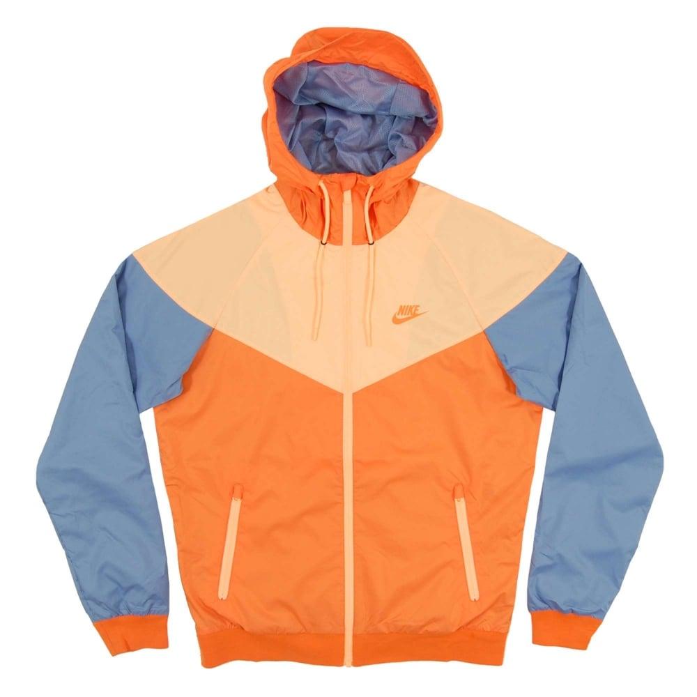 Nike Windrunner Jacket Bright Mandarin Mica Blue Sunset Glow - Mens ... 8ce3447d6
