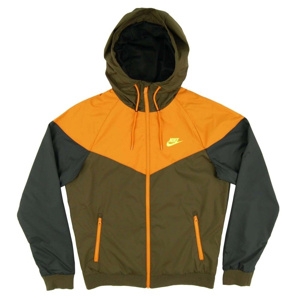6481c84d0058 Nike Windrunner Jacket Dark Loden Sunset Black Volt - Mens Clothing ...