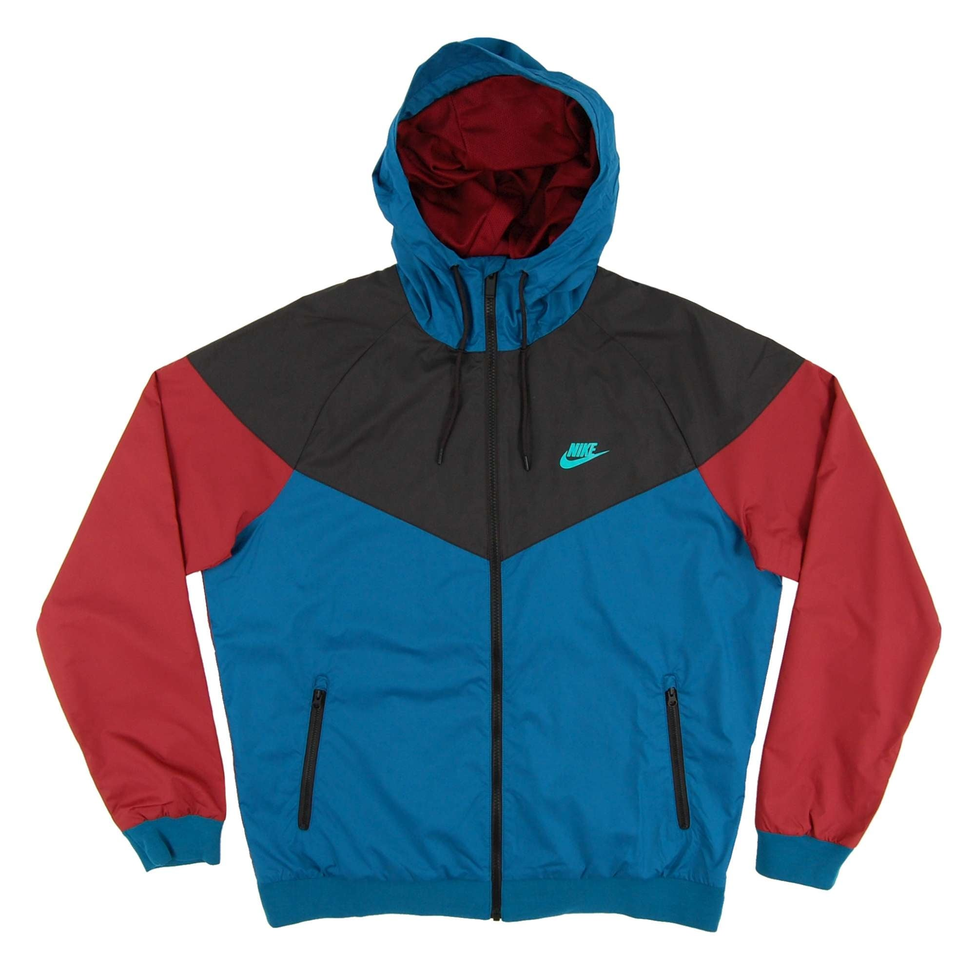 escocés Lluvioso Acuerdo  Windrunner Jacket Green Abyss Black Team Red Hyper Jade - Mens Clothing  from Attic Clothing UK