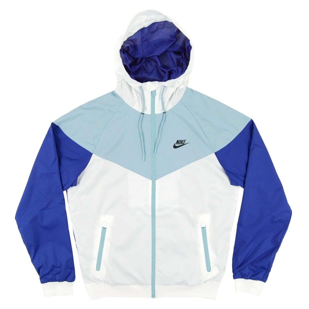 81b16adb688fd Nike Windrunner Jacket White Mica Blue Deep Night - Mens Clothing ...
