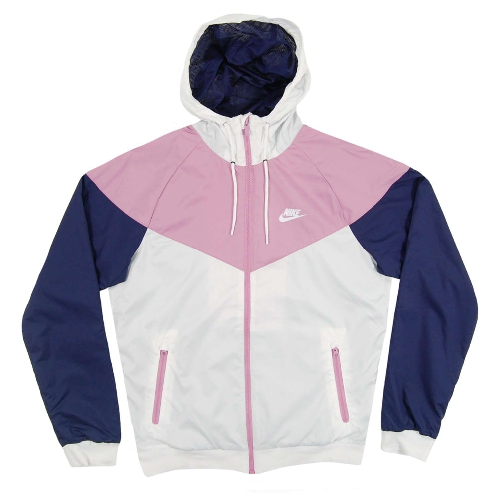 newest entire collection online here Nike Windrunner Jacket White Orchid Binary Blue