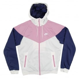 Windrunner Jacket White Orchid Binary Blue