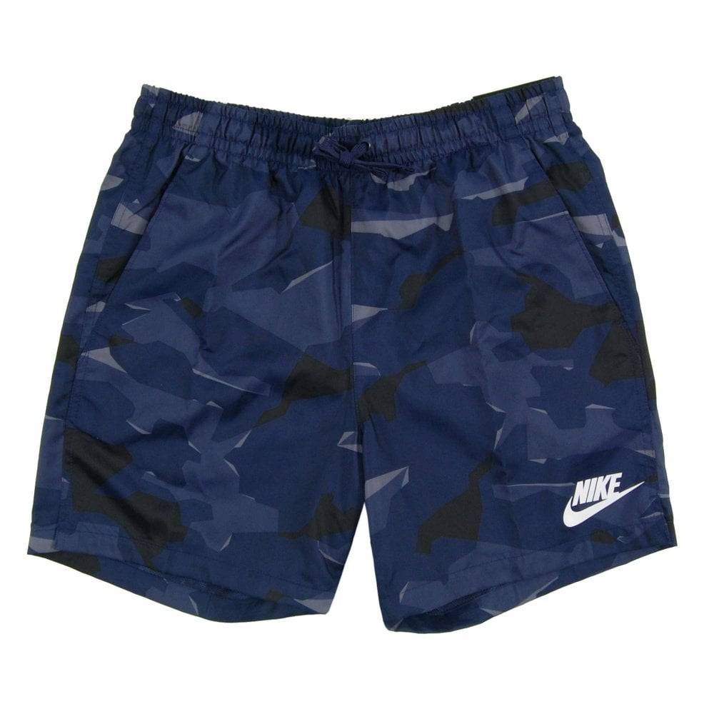 Woven Flow Camo Shorts Blue Recall Light Carbon
