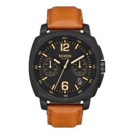 Charger Chrono Leather All Black Light Brown