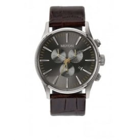 Sentry Chrono Leather Brown Gator