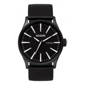 Sentry Leather Black White