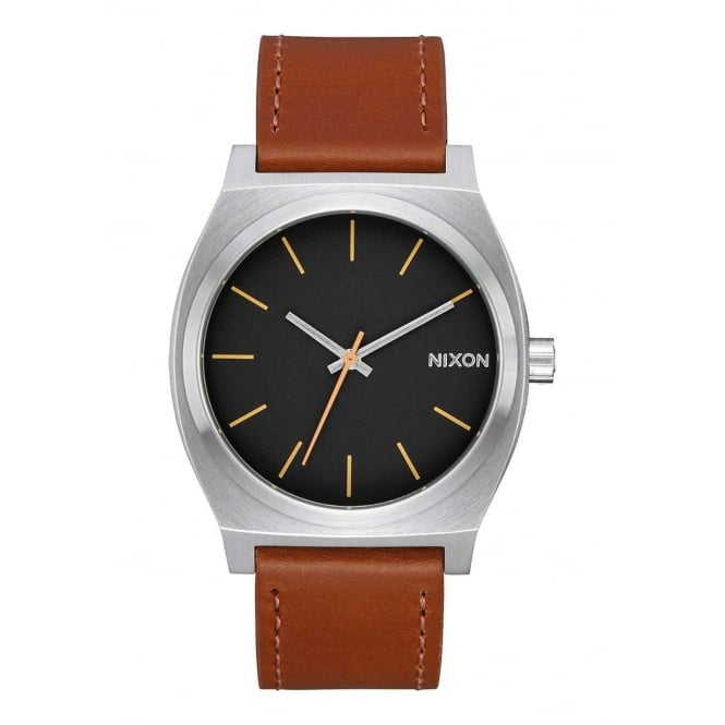 Nixon Time Teller Silver Black Brown