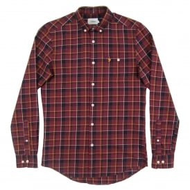 Oldman Check Shirt Farah Red