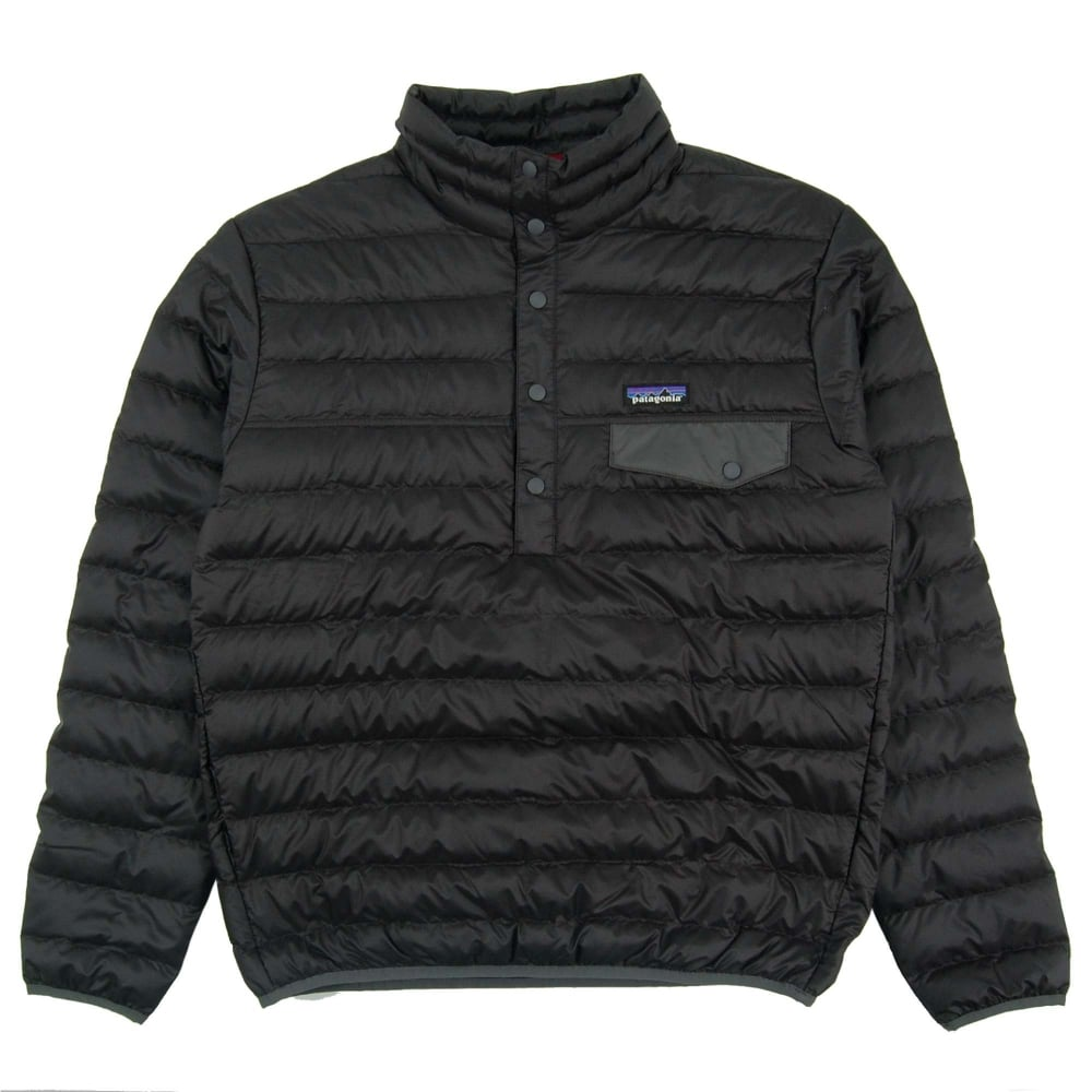 Patagonia Down Snap T Pull Over Jacket Black Mens
